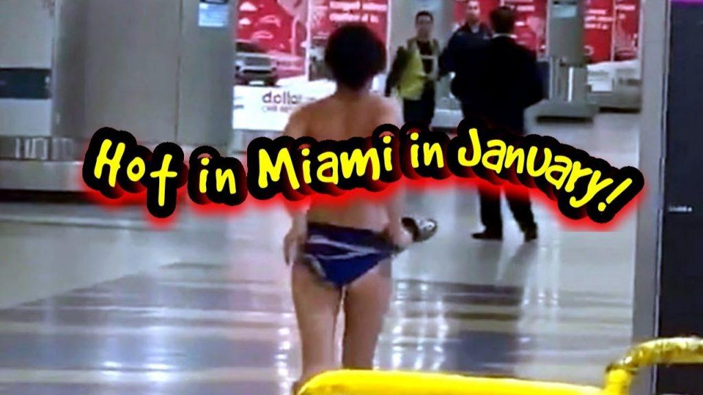 Une femme totalement nue traverse l'aéroport de Miami !