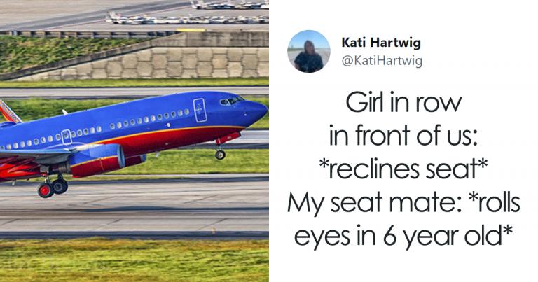 Une femme documente les répliques hilarantes qu'un passager lui a racontées pendant un vol